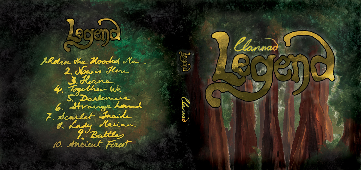 Legend CD Cover Unofficial Design Sountrack for the TV Series Robin of Sherwood about Folklore hero Robin Hood - Outer Cover - Acrylic Painting by Imogen Smid